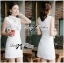 DR-LR-129 Lady Kelly Haute Glam Flowery Dress in White thumbnail 4