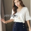 Lady Sophie Sweet Feminine Laser-Cut and Embroidered Top L265-6521 thumbnail 9