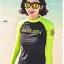 SM-V1-477 ชุดว่ายน้ำแขนยาว ชุดว่ายน้ำขายาว พื้นสีดำแขนเทียวสะท้อนแสงสวยๆ thumbnail 4