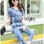 Lady Taylor Street Chic Fashionable Printed Soft Denim Set L262-7502 thumbnail 3