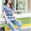 Lady Taylor Street Chic Fashionable Printed Soft Denim Set L262-7502 thumbnail 8