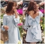 Lady Mila Sweet Minimal Back-Ribbon Baby Blue Dress L268-6919 thumbnail 6