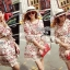 DR-LR-088 Lady Merry Blooming Print Glittery Mini dress thumbnail 3