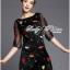 DR-LR-292 Lady Dree Monochrome Heart-Shaped Print Mini Dress thumbnail 7