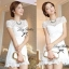 DR-LR-053 Lady Pure White Blossom Embroidery Gala Mini dress thumbnail 1