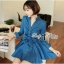 DR-LR-154 Lady Sarah Smart Casual Feminine Denim Shirt Dress thumbnail 8