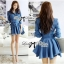 DR-LR-154 Lady Sarah Smart Casual Feminine Denim Shirt Dress thumbnail 4