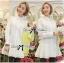 DR-LR-207 Lady Eva Basic Minimal Chic Flared Shirt Dress in White thumbnail 2