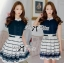 DR-LR-209 Lady Claire Mixed Print Sleeveless Insert Chiffon Shirt Dress thumbnail 10