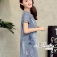 Korean denim embroidered Vintage dress by Aris Code thumbnail 6