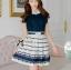 DR-LR-209 Lady Claire Mixed Print Sleeveless Insert Chiffon Shirt Dress thumbnail 5