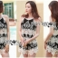 Lady Helena Black and White Lace Cropped Top and Shorts L271-6910 thumbnail 8