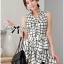 DR-LR-171 Lady Mary Checked Sleeveless Button Down Shirt Dress thumbnail 3