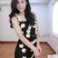 Mini dress เดรสลูกไม้ติดดอก ทรงสั้น thumbnail 3