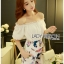 Lady Cathy Off-Shoulder Chiffon with Butterfly Printed Playsuit L260-7518 thumbnail 7