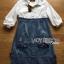Lady Coco Cotton White Shirt with Denim Skirt Dress L202-69B10 thumbnail 17