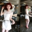 DR-LR-053 Lady Pure White Blossom Embroidery Gala Mini dress thumbnail 4