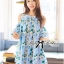 Lady Margaret Sweet Sexy Cut-Out Flower Printed Blue Dress thumbnail 6
