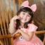 Rabbit Dress ชุดเดรสเด็กสีโอรส thumbnail 2