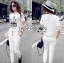 Lady Emma Sporty Casual Striped Printed with Lace Set L205-89C03 thumbnail 1