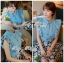 DS-PP-036 Lady Marry Ruffle Denim Shirt and Flowery Skirt Set thumbnail 9