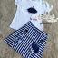 Set cartoon T-shirt embroidered skirt cute by Aris Code thumbnail 11