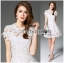 Lady Gabriela Crystal Embellished Flower White Lace Dress L263-8909 thumbnail 1