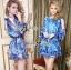 DR-LR-263 Lady Amanda Summer Floral Cut-Out Chiffon Dress thumbnail 5
