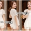 Lady Laurel Classic Sweet Lace Peplum Top and Short Ensemble Set L271-7516 thumbnail 6