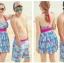 SM-V1-359 ชุดว่ายน้ำทรงชุดแซก สีฟ้า-ชมพู ลายดอกไม้ (ชุดแซก+กางเกงขาสั้น) thumbnail 6