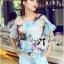 Lady Katie Dreamy Colourful Printed Layered Chiffon Top and Satin Shorts Set L166-79C11 thumbnail 4