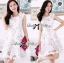 DR-LR-127 Lady Rachel Sweet Angel Flowery Dress in White thumbnail 2