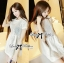 DS-PP-024 Lady Brie Sweet Classic White Lace Peplum Set thumbnail 6