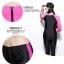 SM-V1-440 ชุดว่ายน้ำแขนยาวขาวยาว เซ็ต 2 ชิ้น เสื้อกับกางเกง สีดำแต่งขอบชมพูบานเย็น thumbnail 3