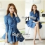DR-LR-154 Lady Sarah Smart Casual Feminine Denim Shirt Dress thumbnail 6