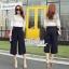 Korean lace print two-piece leg trousers by Aris Code thumbnail 5