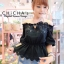 Partysu Huggable Lace Short Blouse C170-57A05 thumbnail 3