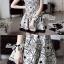 DR-LR-087 Lady Avril Minimal Chic Swirl Print Dress thumbnail 10