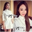 DR-LR-207 Lady Eva Basic Minimal Chic Flared Shirt Dress in White thumbnail 4