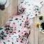 12511 แม็กซี่เดรสยาว แขนกุด สีขาว ลายดอกไม้สีโอรส thumbnail 6