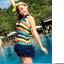 SM-V1-088 ชุดว่ายน้ำแฟชั่น คนอ้วน เด็ก ดารา thumbnail 4