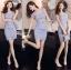 Lady Felicia Sexy Feminine Off-Shoulder Lilac Lace Dress L271-7909 thumbnail 3