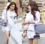 Lady Olivia Glam Chic Two-Way Shirt in White thumbnail 3