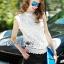 Lady Anna Classic Vintage High-Neck Lace Blouse L266-6914 thumbnail 3