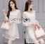 Lady Feona Classic Feminine Lace and Chiffon Dress L246-75C05 thumbnail 1