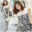 DS-PP-035 Lady Margaret Casual Chic Graphic Print Lace Jumpsuit thumbnail 1