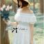 Lady Chloe Feminine Off-Shoulder Cotton and Lace Dress L188-75C08 thumbnail 7