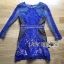 Lady Kate Desirable Sexy Lace Dress in Electric Blue L218-115C05 thumbnail 6