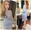 Lady Nara Feminine Elegant Crystal Embroidered Lace Dress L267-8514 thumbnail 7
