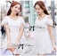 DR-LR-071 Lady Charlotte Gorgeous Little White Lace Dress thumbnail 1